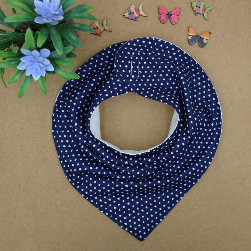 Handmade Blue Navy With Stars Bib Bandana