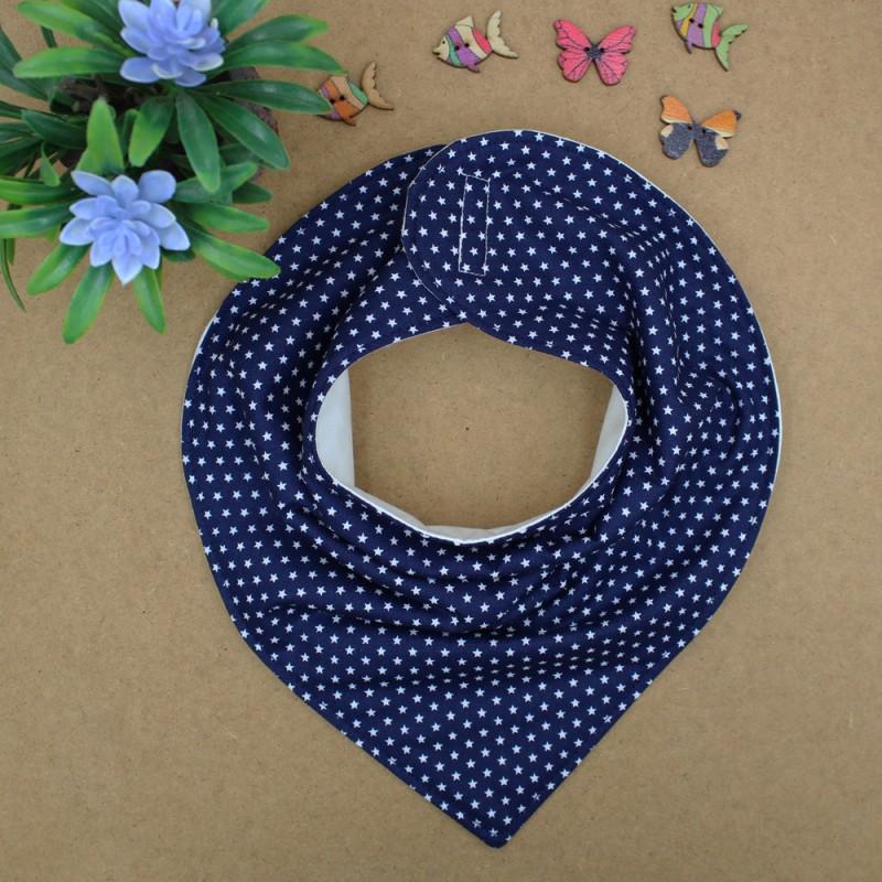 Handmade Blue Navy With Stars Bib Bandana