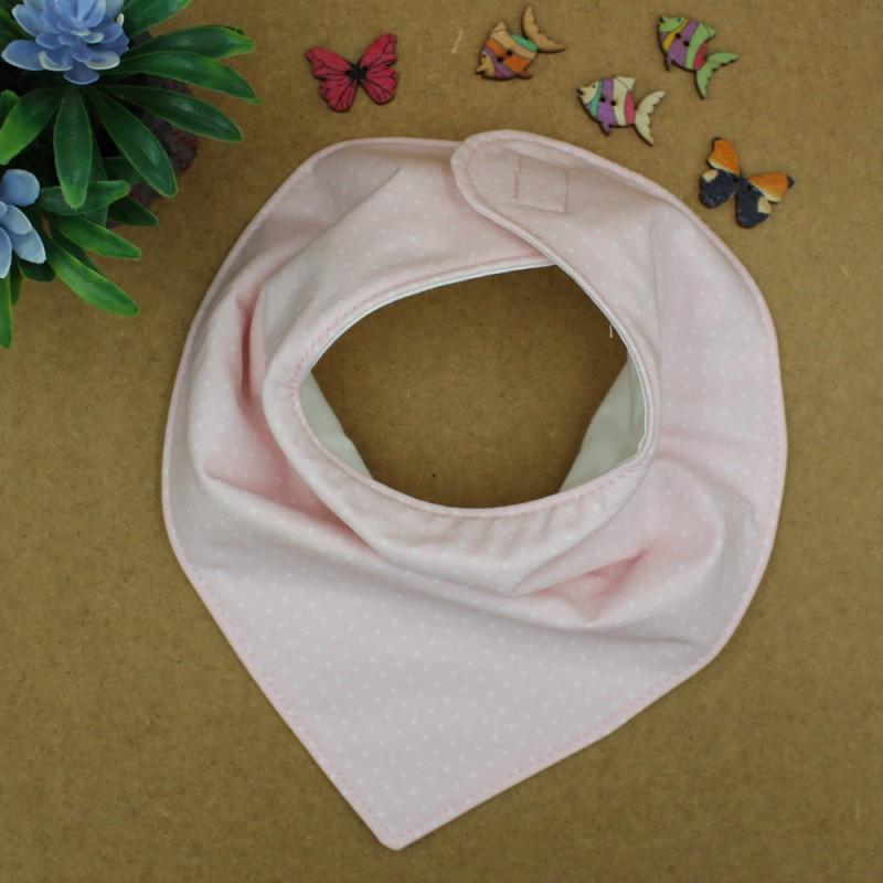 Handmade Pink Polka Dot Bib Bandana