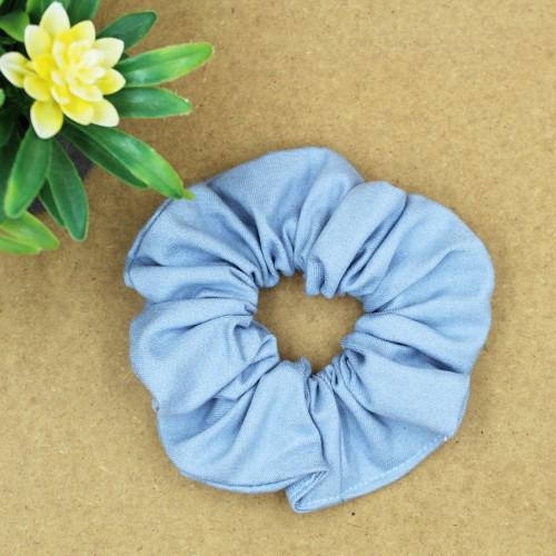 Handmade Jeans Blue Scrunchie Hair Rubber