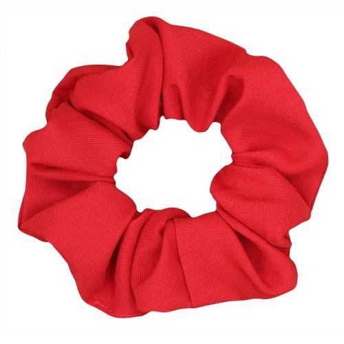 Handmade Red Scrunchie Hair Rubber