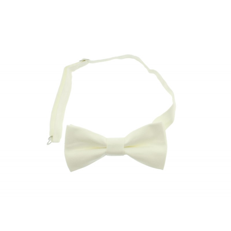 Handmade White Men's Pre-tied Bow Tie
