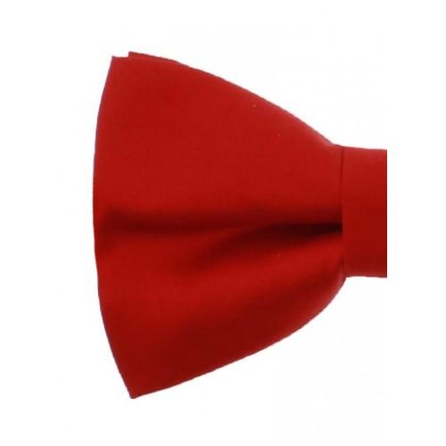 Red Silk Men's Pre-Tied Bow Tie