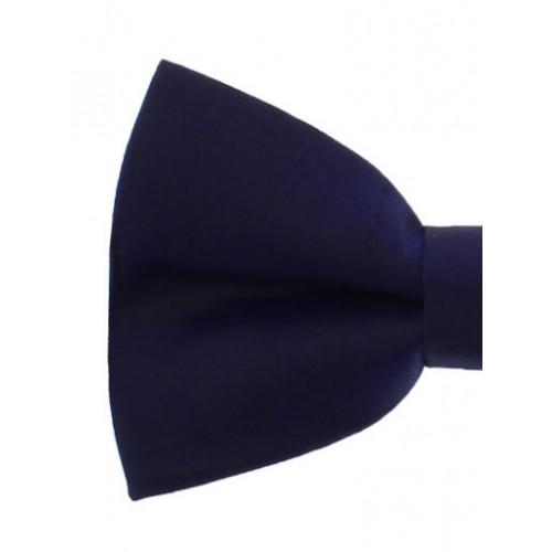 Dark Blue Silk Men's Pre-Tied Bow Tie