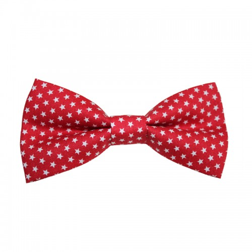 Men's Pre-Tied Bow Tie Red With Stars
