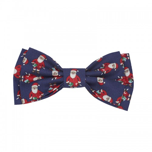 Men's Christmas Pre-Tied Bow Tie With Pattern Santa Claus