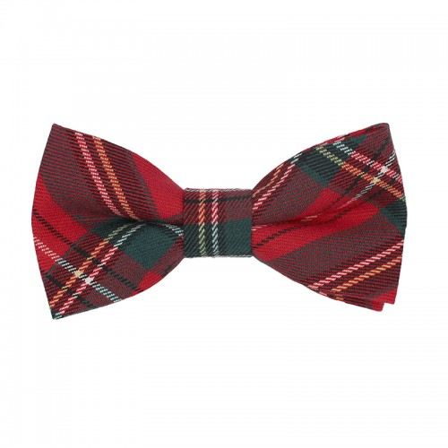 Men's Pre-Tied Bow Tie Red Checkered