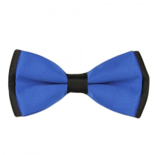 Blue Black Men's Pre-Tied Bow Tie