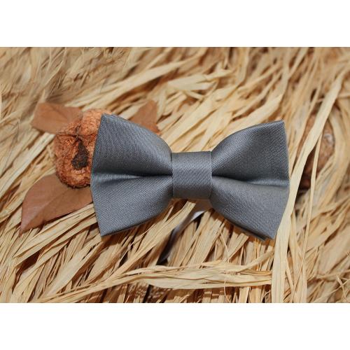 Silver Gray Baby Pre-Tied Bow Tie