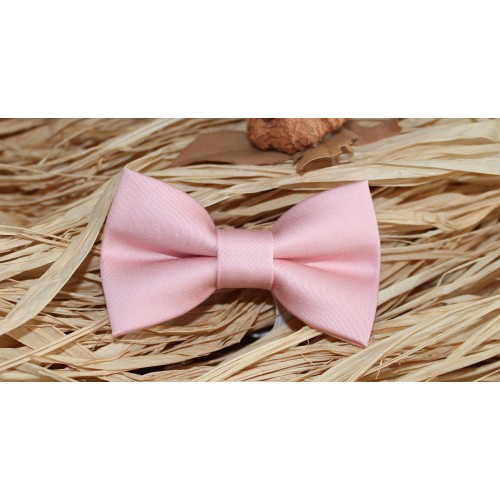 Peach Baby Pre-Tied Bow Tie 0-36 Months Old