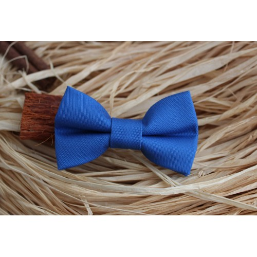Royal Blue With Stripes Baby Pre-Tied Bow Tie 0-36 Months Old