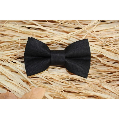 Black Baby Pre-Tied Bow Tie 0-36 Months Old
