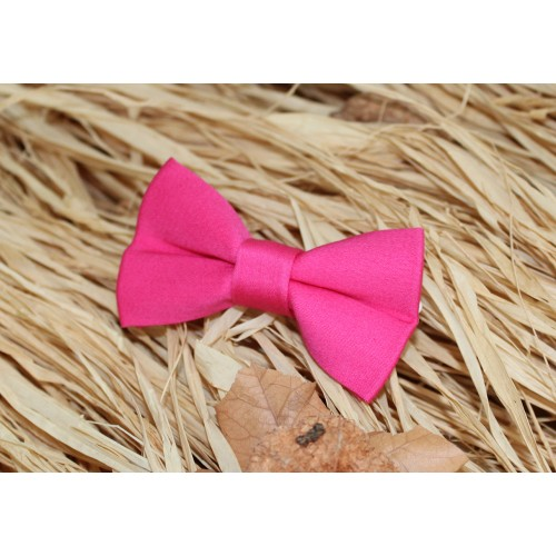 Fuchsia Baby Pre-Tied Bow Tie 0-36 Months Old
