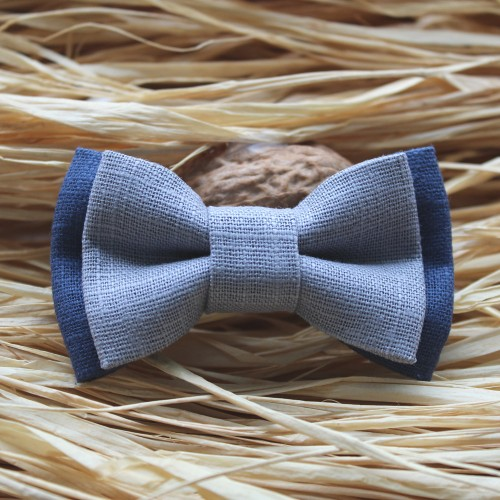 Blue Raf - Gray Linen Kid Pre-Tied Bow Tie For 0-36 Months Old