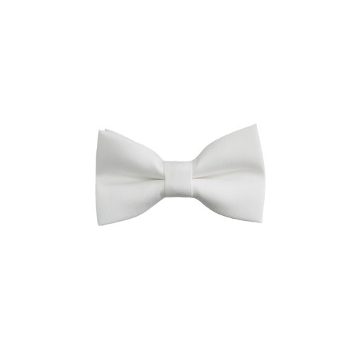 White Baby Pre-Tied Bow Tie 0-36 Months Old