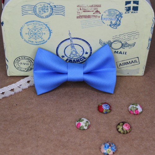 Light blue Baby Pre-Tied Bow Tie0-36 Months Old
