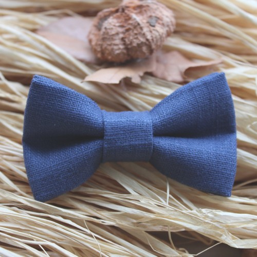 Blue Raf Linen Kid Pre-Tied Bow Tie For 0-36 Months Old