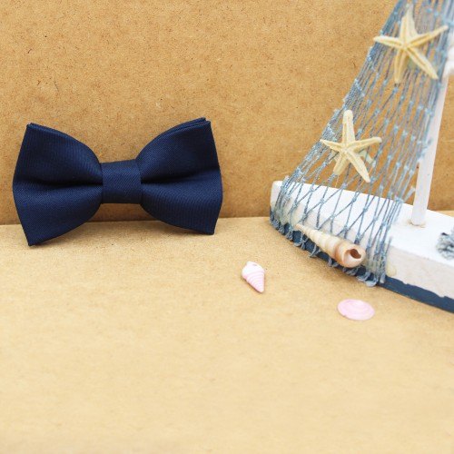 Blue NavyColor Kid Pre-Tied Bow Tie For 0-36 Months Old