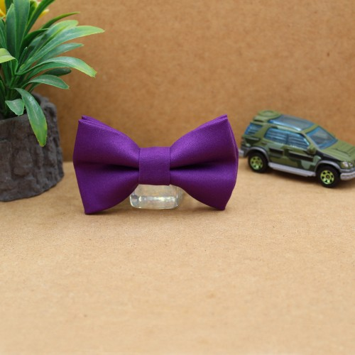 Purple Baby Pre-Tied Bow Tie 0-36Months Old