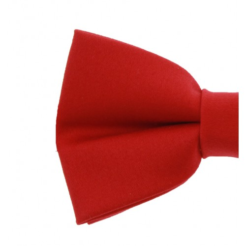 Red Men's Pre-Tied Bow Tie