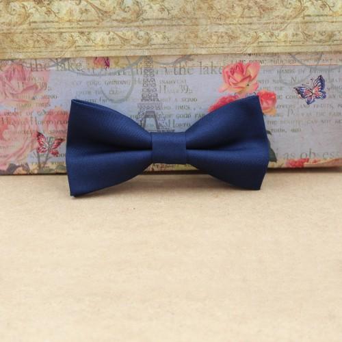 Blue Navy Men's Pre-Tied Bow Tie