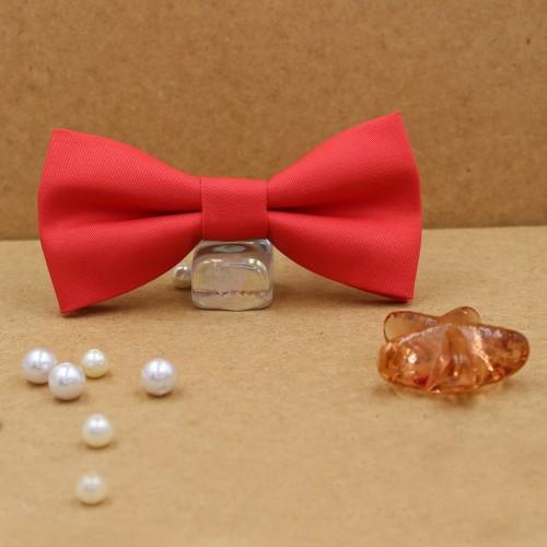 Coral Men's Pre-tied Bow Tie