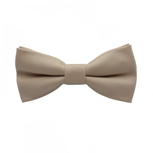Beige Men's Pre-Tied Bow Tie
