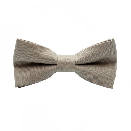 Silver Beige Men's Pre-Tied Bow Tie