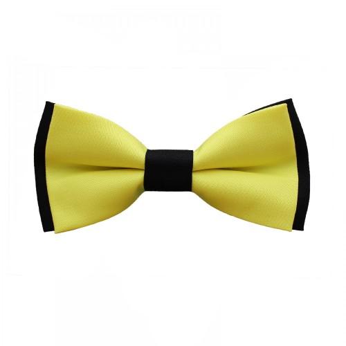Yellow Black Men's Pre-Tied Bow Tie