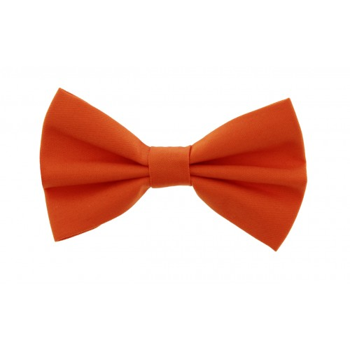 Orange Kid Pre-Tied Bow Tie For 2-6 Years Old