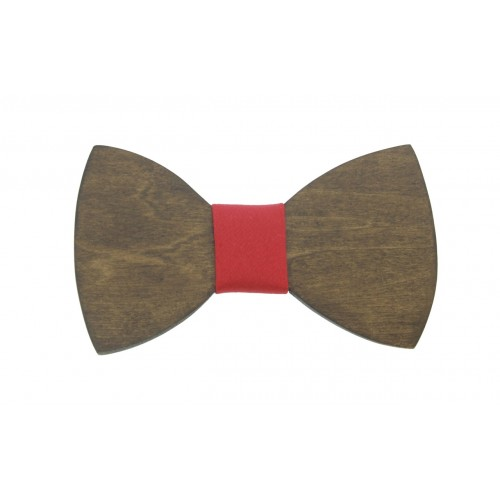 Walnut Wooden Baby Bow Tie For 8-36 Months Old