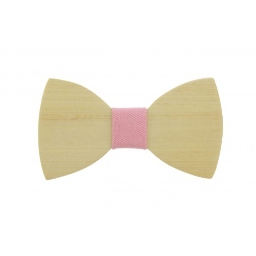 Pine Wooden Baby Bow Tie For 8-36 Months Old