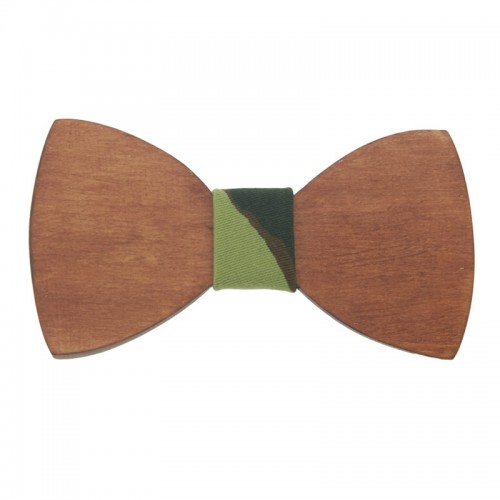 Mahogany Wooden Kid's Bow Tie For 7-14 Years Old