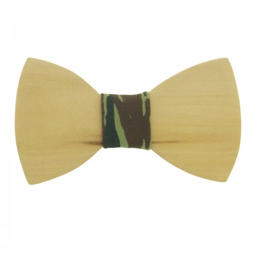 Pine Wooden Kid's Bow Tie For 7-14 Years Old