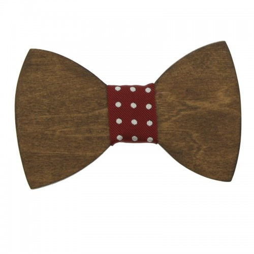 Walnut Wooden Kid's Bow Tie For 7-14 Years Old