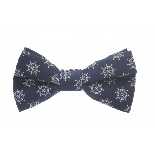 Blue Navy Kid Pre-Tied Bow Tie For 1-6 Years Old