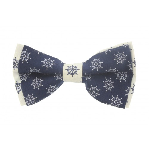 Blue Navy & White Kid Pre-Tied Bow Tie For 1-6 Years Old