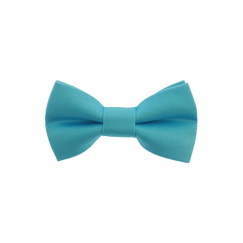 Light Blue Baby Pre-Tied Bow Tie 0-12 Months Old