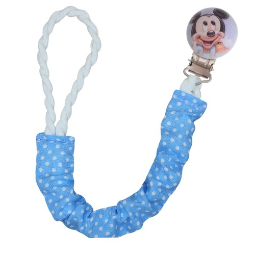 Handmade Pacifier Clip Mickey Mouse
