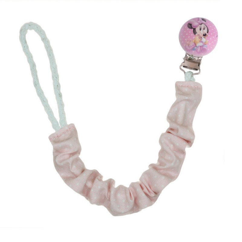 Handmade Pacifier Clip Minnie Mouse