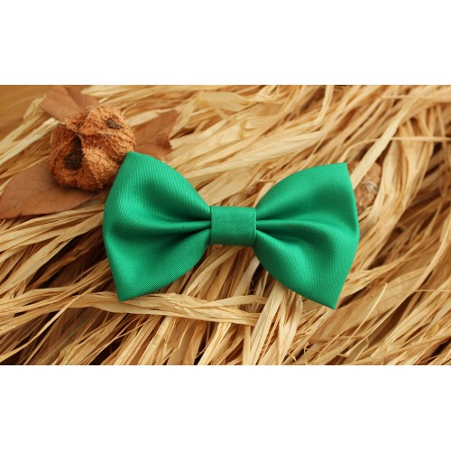 Green Kid Pre-Tied Bow Tie For 2-6 Years Old