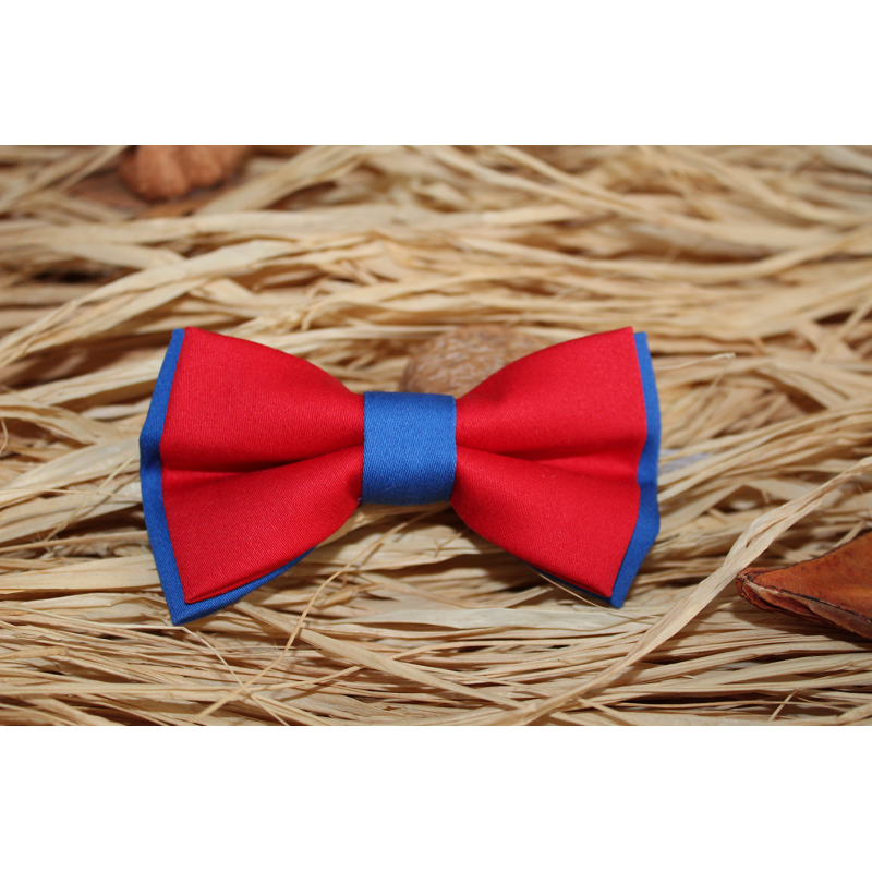 Red & Royal Blue Kid Pre-Tied Bow Tie For 2-6 Years Old