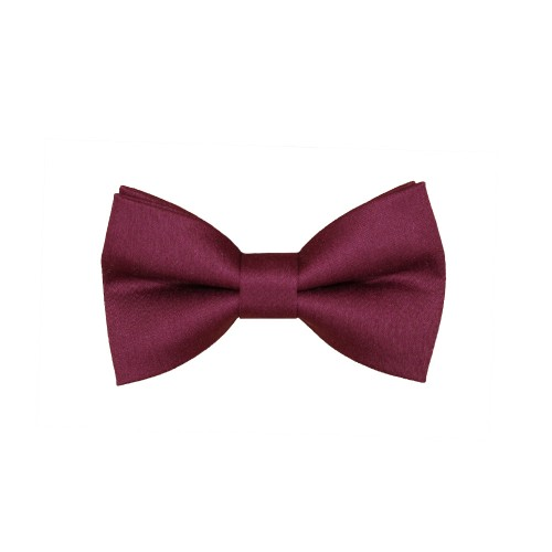 Wine Red Kid Pre-Tied Bow Tie For 1-6 Years Old