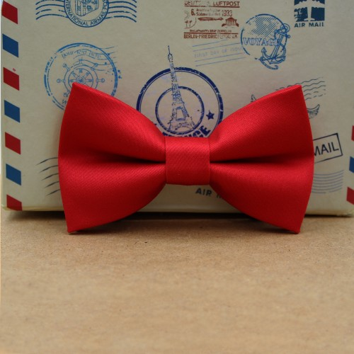 Red Kid Pre-Tied Bow Tie For 1-6 Years Old