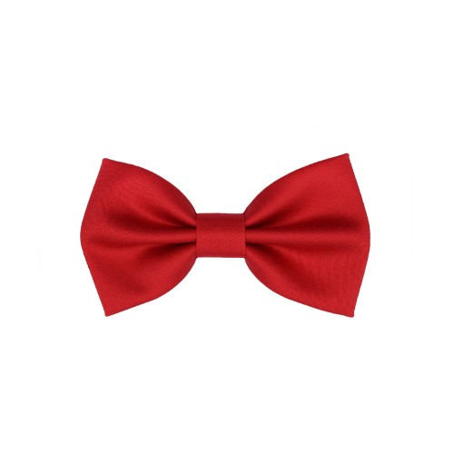 Red Kid Pre-Tied Bow Tie For 7-14 Years Old