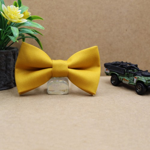 Mustard Kid Pre-Tied Bow Tie For 2-6 Years Old