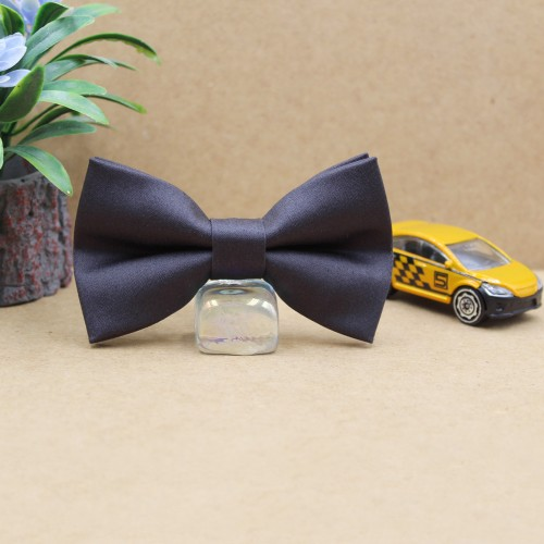 Anthracite Gray Kid Pre-Tied Bow Tie For 2-6 Years Old