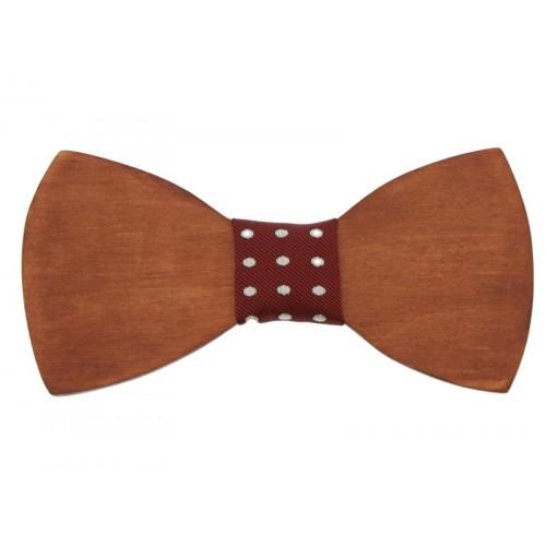Mahogany Wooden Men's Bow Tie